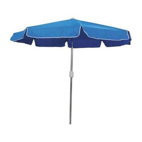 ZORO SELECT 4HUW4 Outdoor Umbrella, Round, Blue - image 1 of 1