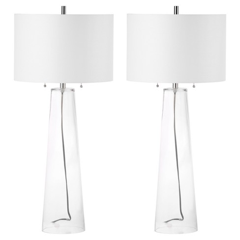 Myrtle Clear Glass Table Lamp Set Of 2 Safavieh Target