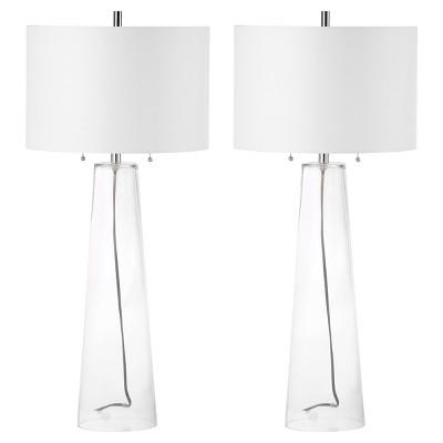 Merveilleux Myrtle Clear Glass Table Lamp Set Of 2   Safavieh