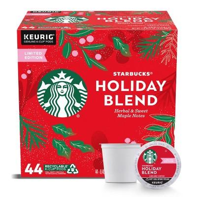 Starbucks Holiday Blend Medium Dark Roast Coffee - Keurig K-Cup Pods - 44ct