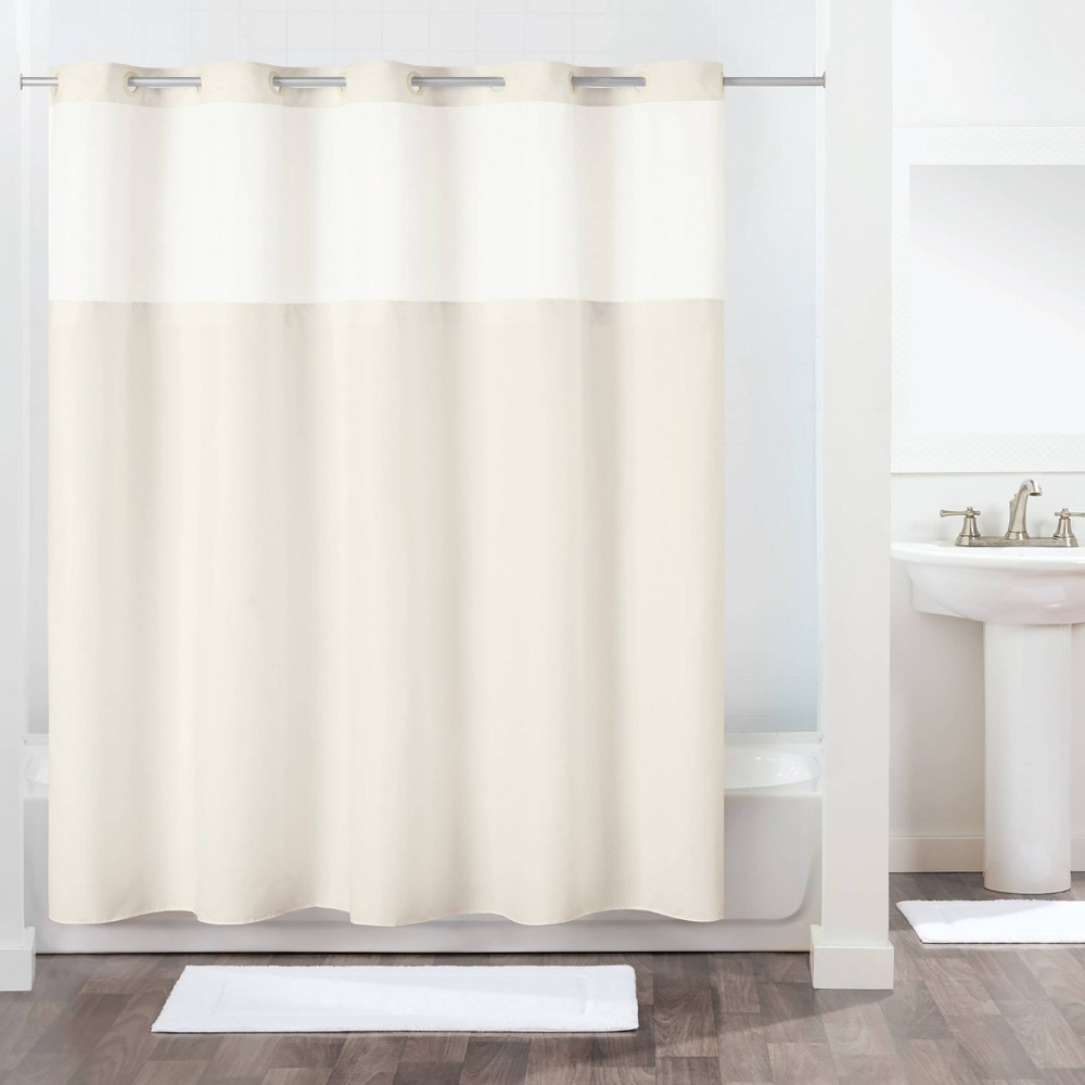 Image of Antigo Shower Curtain with Fabric Liner Ivory - Hookless