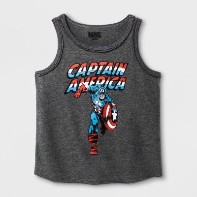 195d67ffc1e Toddler Boys  Marvel Captain America Short Sleeve T-Shirt - Heather Gray
