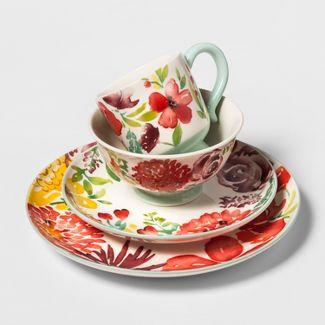 16pc Corinna Stoneware Floral Dinnerware Set - Threshold™