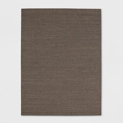 5' x 7' Dupione Outdoor Rug Charcoal - Smith & Hawken™