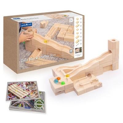 Guidecraft Unit Block Marble Run - 40 Piece Set