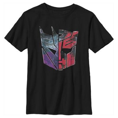 Boy's Transformers Split Bot Logo T-Shirt