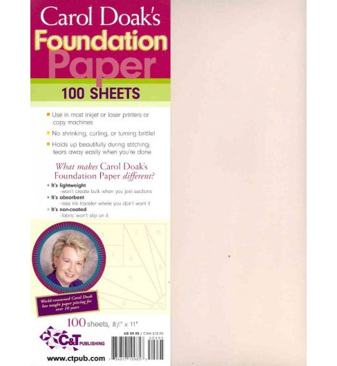Carol Doak's Foundation Paper -  (Paperback) - image 1 of 1