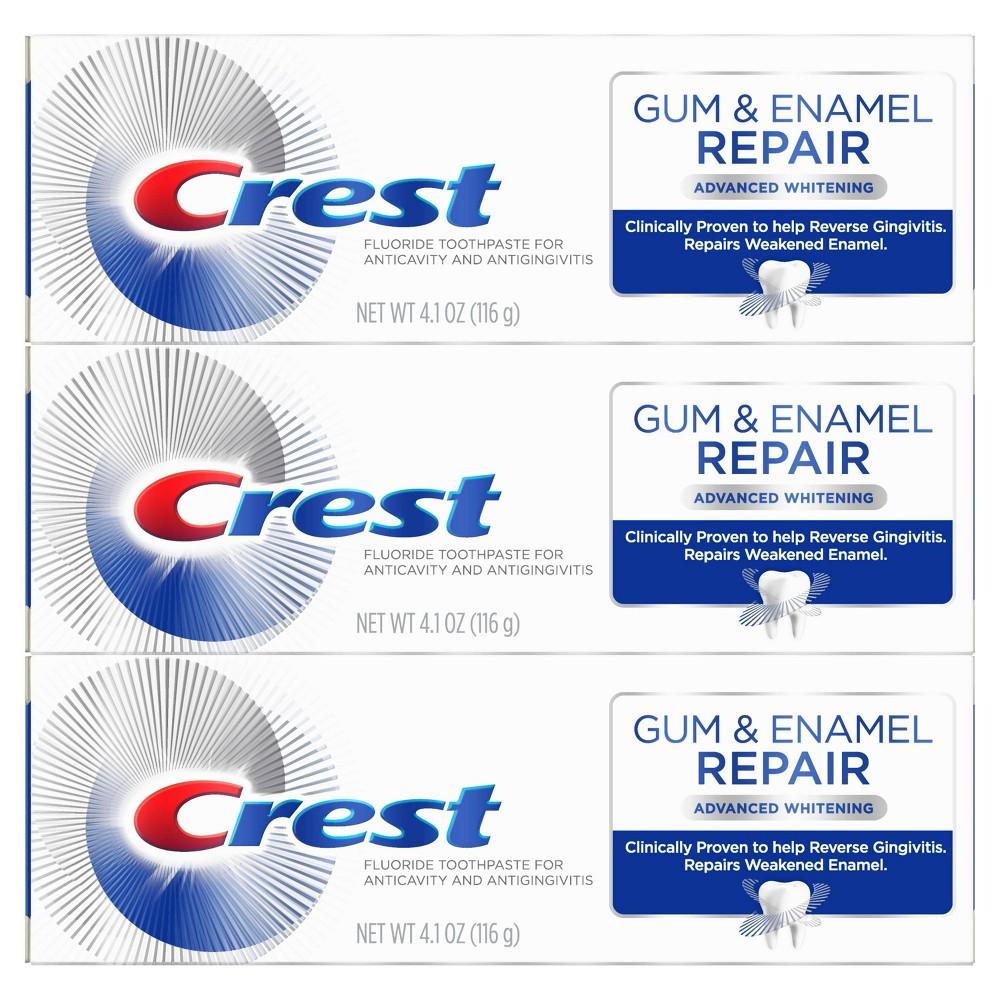 Crest Gum & Enamel Repair Advanced Whitening Toothpaste 3-Pack Now $11.80