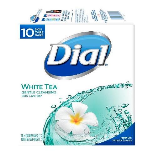 Dial Skin Care White Tea Bar Soap - 10pk - 4oz each - image 1 of 4