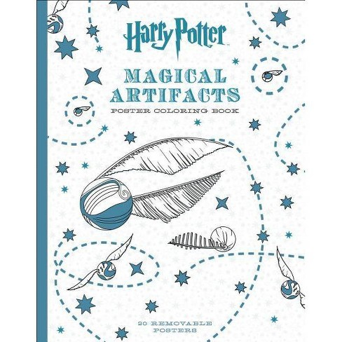 Harry Potter Magical Artifacts Poster Coloring Book - by Scholastic  (Paperback)