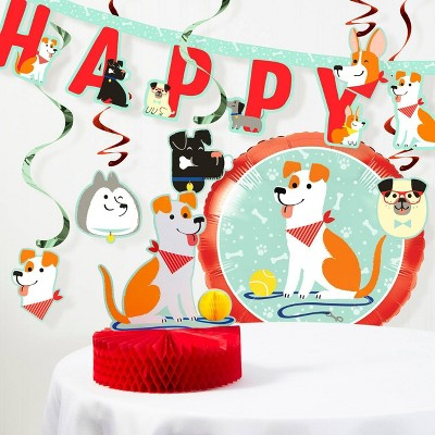 """Happy Birthday"" Dog Print Decoration Kit"