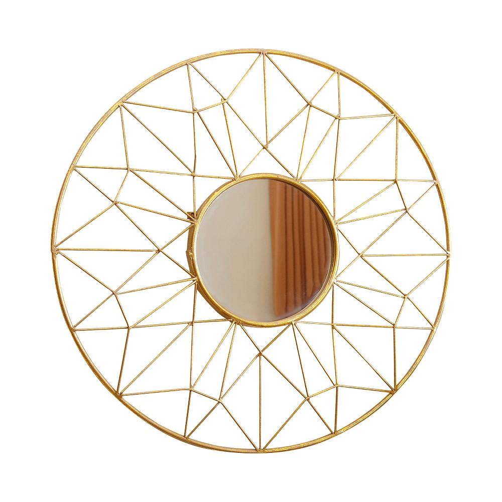 Hayley Round Wall Mirror Gold - Abbyson Living