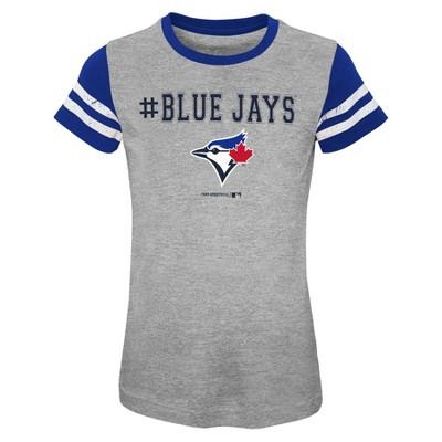 MLB Toronto Blue Jays Girls' Scoop Neck Yolk T-Shirt