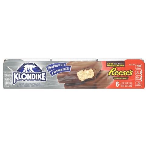 Klondike Reese's Peanut Butter Ice Cream Bars Dipped in Chocolately Coating - 6ct - image 1 of 6
