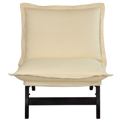 Folding Lounger Chair - Espresso - Flora Home