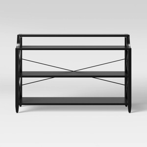 Fairmont Metal Console Table Black - Threshold