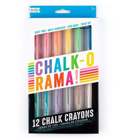 Chalk-O-Rama Dust-Free Colorful Drawing Chalk Crayons, Set Of 12 - Hearthsong - image 1 of 2