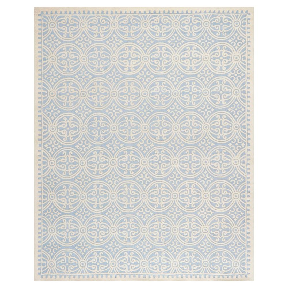 Light Blue/Ivory Geometric Tufted Area Rug 6'X9' - Safavieh
