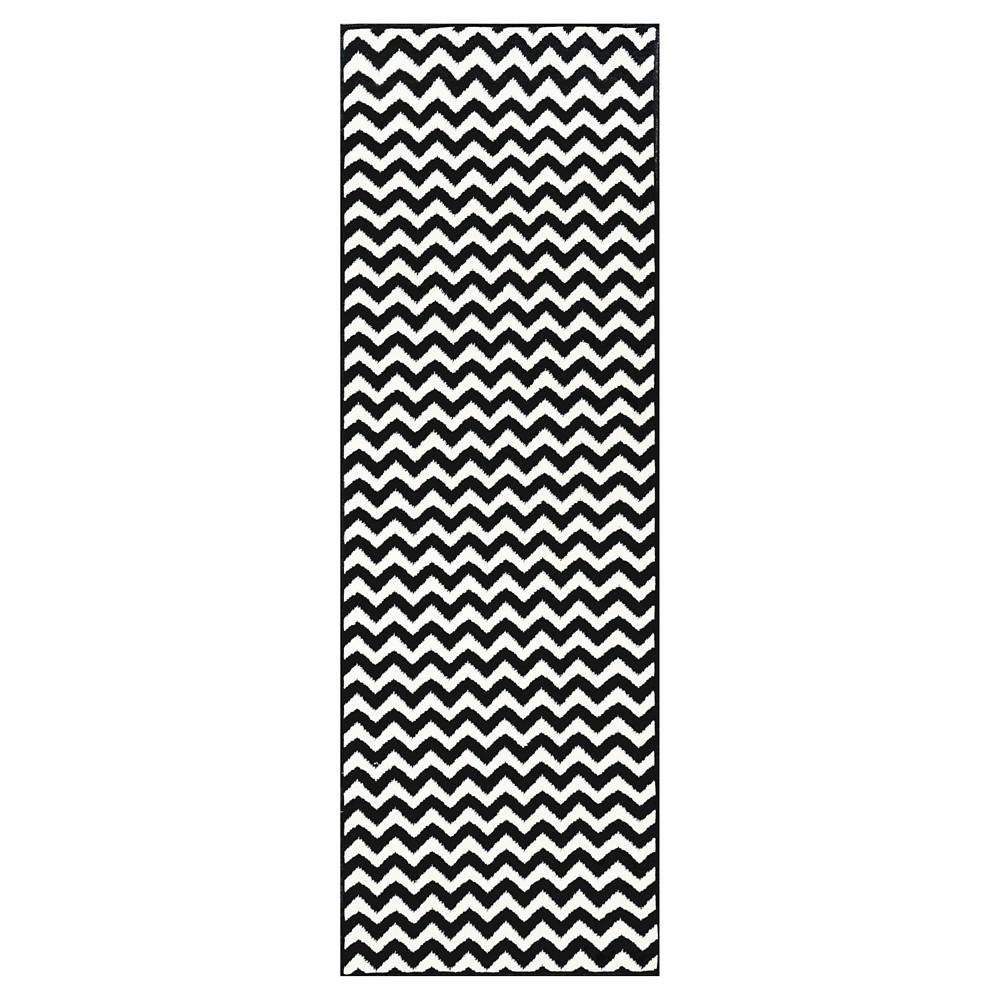 """nuLOOM Charles Runner - Black (2' 8"""" x 7' 11""""), Size: 2' 8"""" x 7' 11"""" Runner"""