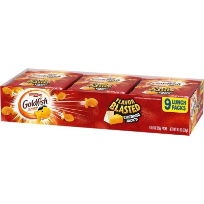 Pepperidge Farm Goldfish Flavor Blasted Cheddar Jack'd Crackers Multipack - 8.1oz/9ct