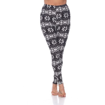 Women's One Size Fits Most Printed Leggings - White Mark