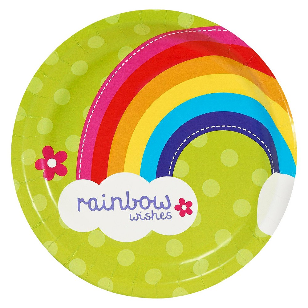 8ct Rainbow Wishes Dinner Plate