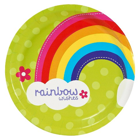 8ct Rainbow Wishes Dinner Plate - image 1 of 1