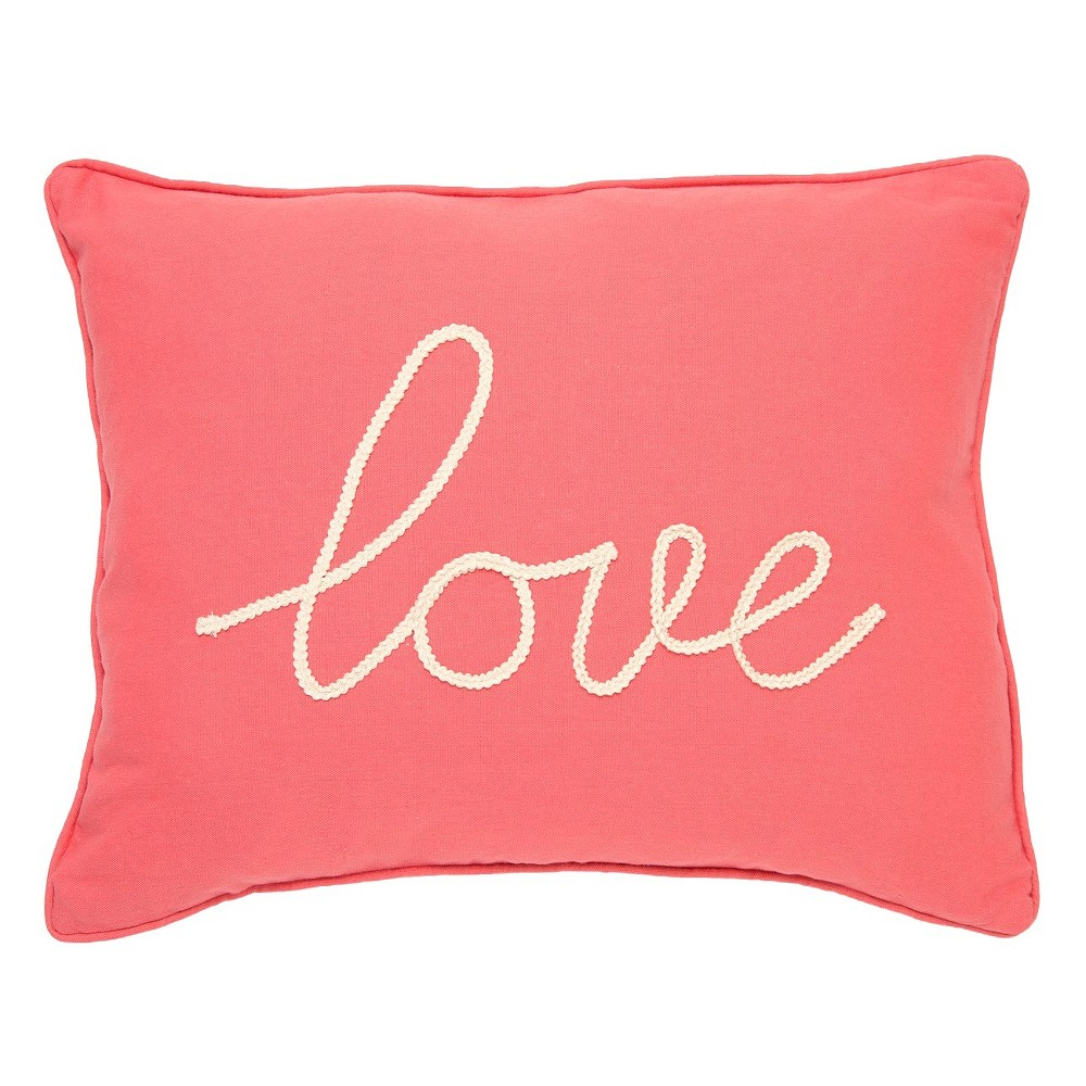"""Image of """"Coral Love Throw Pillow (14"""""""" X 18"""""""") - Homthreads, Pink"""""""
