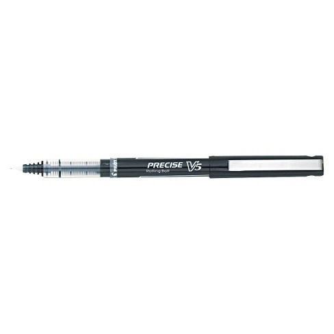 Pilot Precise V5 Roller Ball Stick Pen, Needle Point, 0.5mm Extra Fine - Black Ink (12 Per Pack) - image 1 of 1