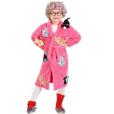 Orion Costumes Crazy Cat Lady Kids Costume | Robe & Wig Set | One Size Fits Up to Size 10