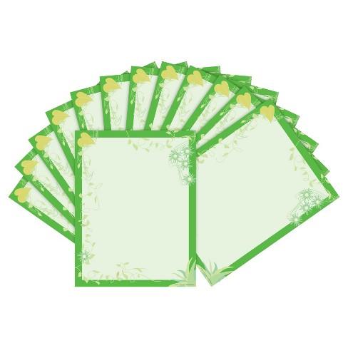 Barker Creek 2pk Printer Paper 100ct - Green Florals - image 1 of 2