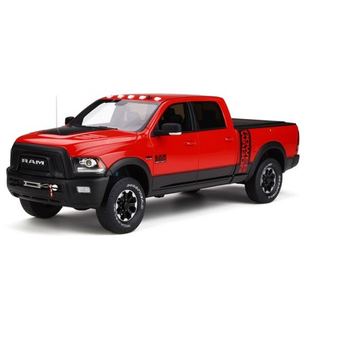 2017 Dodge Ram 2500 Wagon Pickup Truck W Bed Cover Flame Red Ltd Ed 999 Pcs 1 18 Model Car By Gt Spirit Target