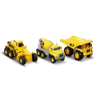 CAT Metal 3pk Concrete Mixer/ Dump Truck and Grader