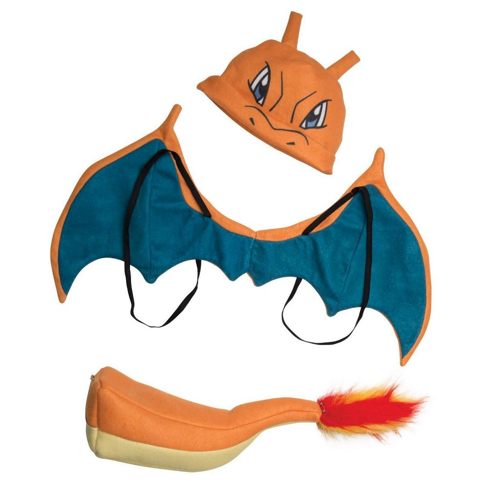 Kids' Pokemon Charizard Costume, Kids Unisex, Orange