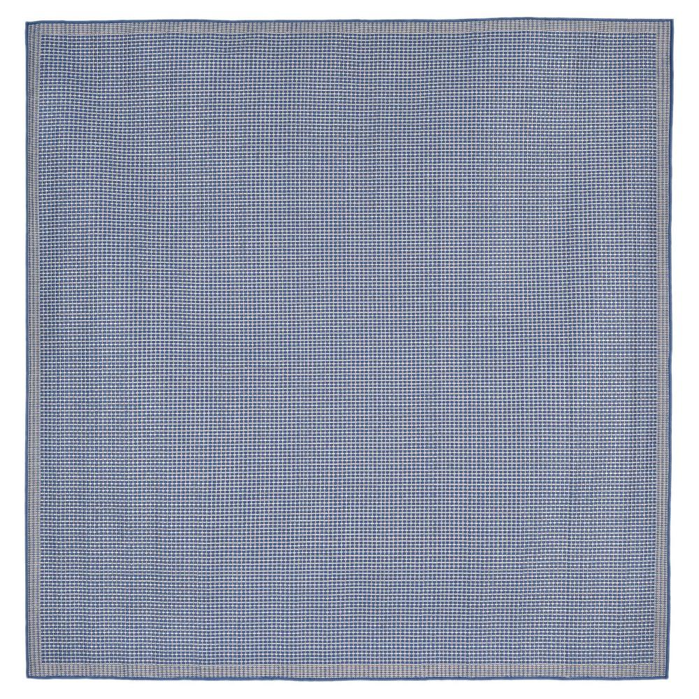 Terrace Indoor/Outdoor Texture Marine Square Rug 7'10 Blue - Liora Manne