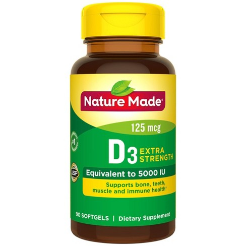 Nature Made Vitamin D3 Dietary Supplement Softgels - image 1 of 3