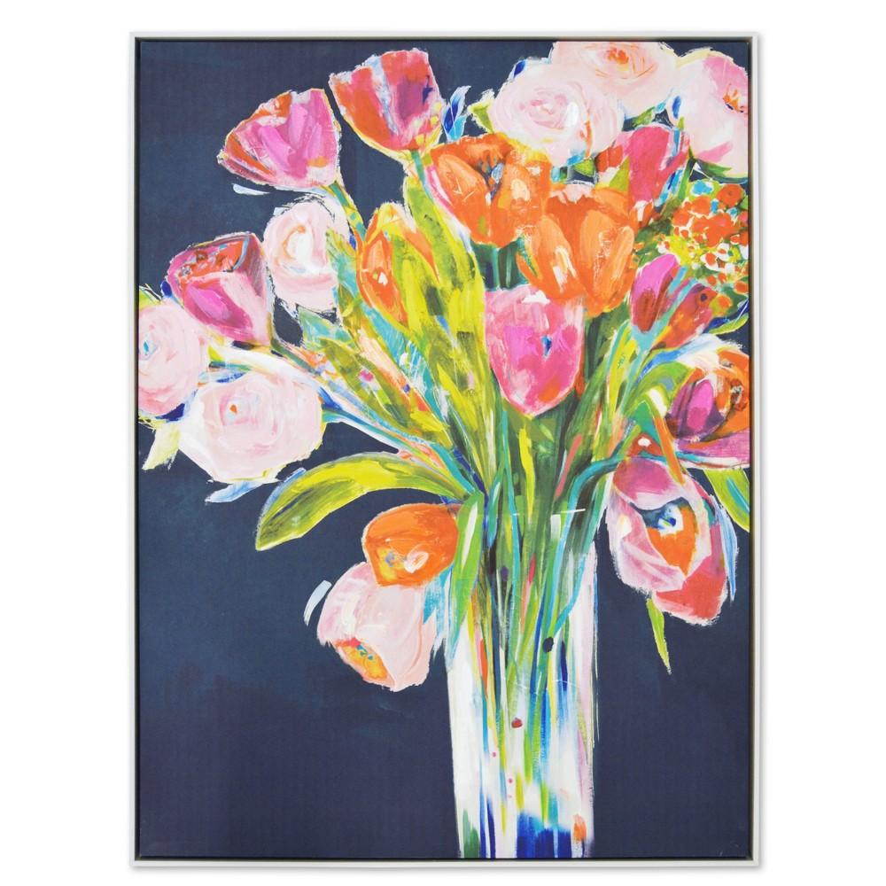 30 34 X 40 34 Bright Floral Bouquet Unframed Framed Wall Art New View