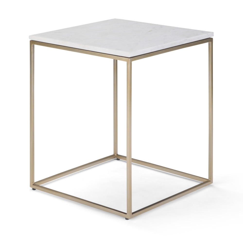 Holmes Accent Table White/Gold - Wyndenhall
