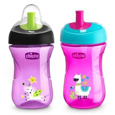 Chicco 2pk Sport Spout Trainer Cup 9+ Months - Pink/Purple - 9oz