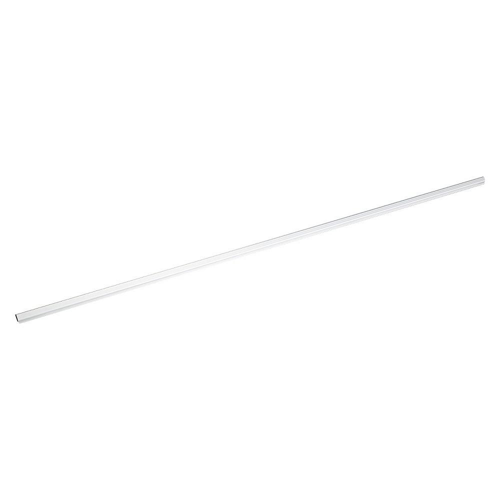 Advantus Grip-A-Strip Display Rail, 96 x 1 1/2, Aluminum Finish, White