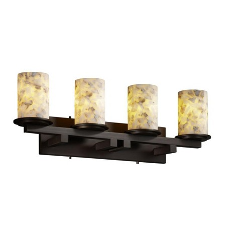 Justice Design Group ALR-8774-10 Alabaster Rocks 4 Light Vanity Light - image 1 of 1