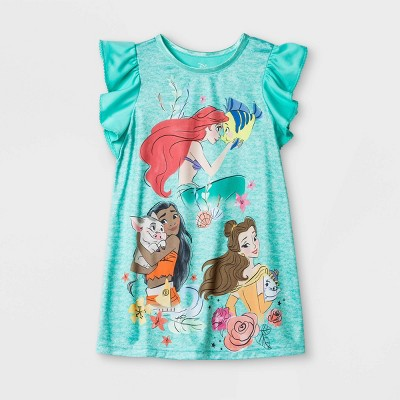 Toddler Girls' Disney Princess Nightgown - Blue 4T