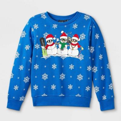 Boys' Snow Me A Good Time Pullover Sweatshirt - Blue