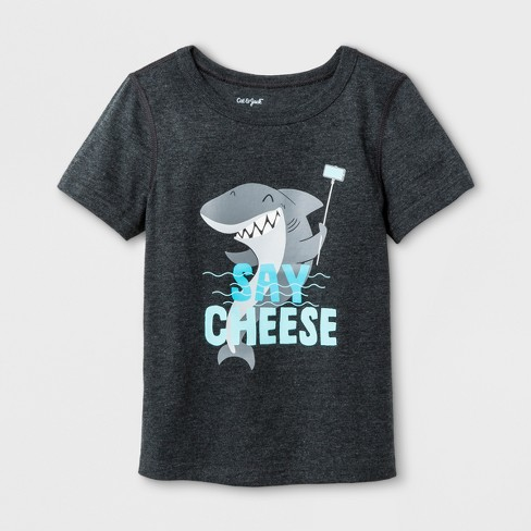 d7ae46b54 Toddler Boys' Adaptive Short Sleeve Shark Graphic T-Shirt - Cat & Jack™  Black