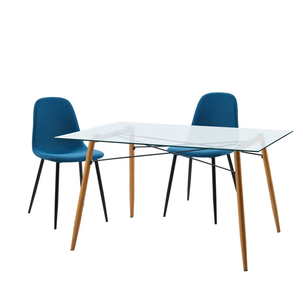 Minimalista Table & Set of 2 Chairs - Blue - Versanora