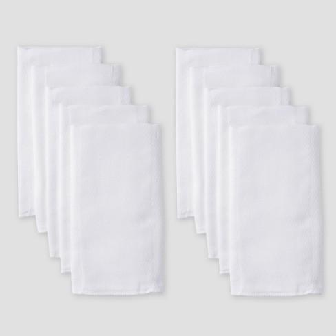 Gerber Baby 10pk Prefold Birdseye Diaper - White One Size - image 1 of 4