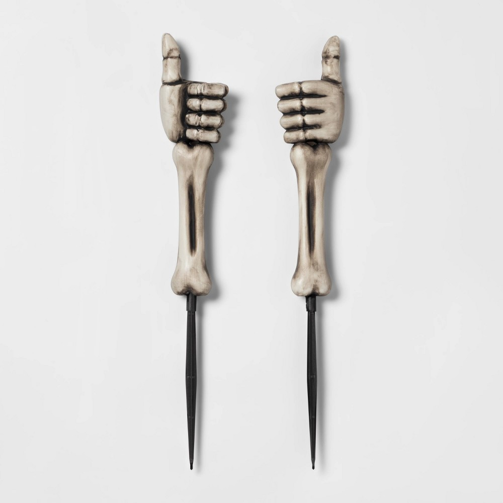 Image of Halloween 2ct Thumbs Up Skeleton Hands Halloween Yard Stake - Hyde & EEK! Boutique