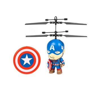 """World Tech Marvel 3.5"""" Captain America Flying Figure IR Helicopter"""