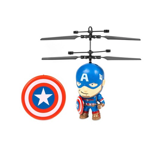 """World Tech Marvel 3.5"""" Captain America Flying Figure IR Helicopter - image 1 of 3"""