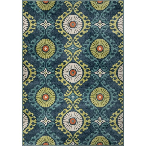 Promise Indoor Outdoor Area Rug Blue